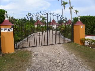 gated and fenced all around villa