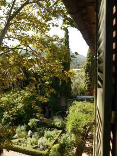View from lounge window to Mont Faron