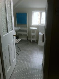 View of bathroom from hallway