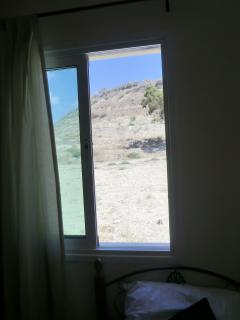 view from bedroom window