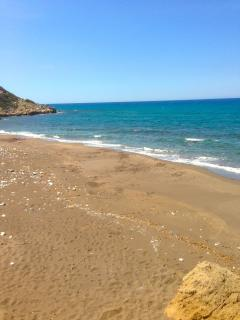'Our' beach, 400 m from the villa
