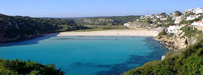 Cala'n Porters beautiful horseshoe beach