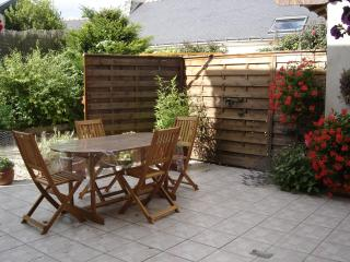 table de jardin et barbecue.