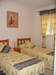 Bedrooms decorated in mediterranean colours