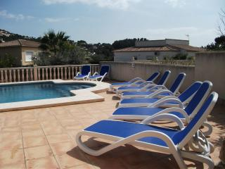 10 m x 5 m pool and sun terrace with comfortable loungers