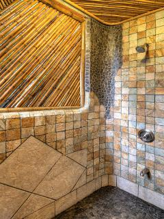 Master Bath With Bamboo Shower