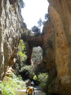 Puente natural río Ebrón