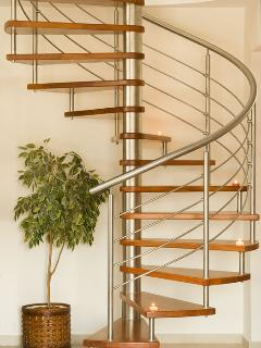 Italian design wooden stairs