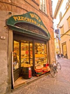 Fantastic focaccia, bread and salami on the corner!