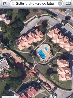 Ariel view of property. Part of a group of 20 apartments. Ground floor property with garden