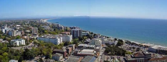 Birds Eye View of Bournemouth from Vistra Balloon