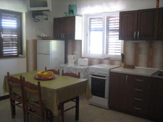 Fully equipped kitchen and living room area