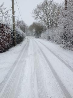 The Lane in the snow !