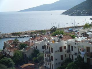 Centrally located, 1 minute walk to harbour plus views of sea, harbour and Kalkan