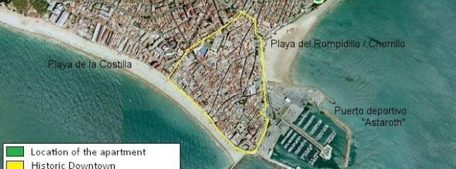 Céntrico, junto al mar, barrio tranquilo, cerca del puerto deportivo para tomar el ferry a Cádiz...