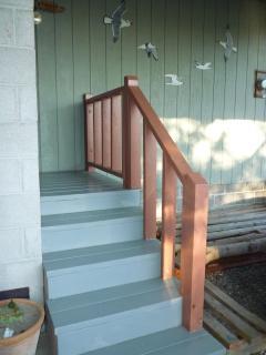 stairway to front door