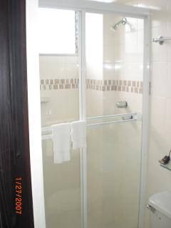 Sliding Glass Shower Doors Tempered Glass, not plastic, Very nice and Very Spacious! Typical  Layout