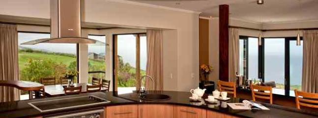 Open plan kitchen with modern amenities