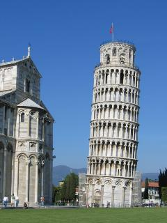 The Leaning Tower of Pisa, 1 hour 15 mins away