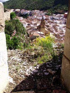 Chulilla town, view from the Castle walls