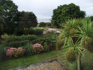 view of the garden from bedroom