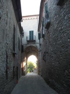 Street in old Mombaldone