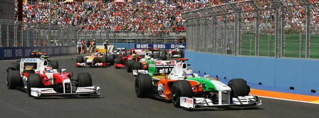 Velencia F1 race circuit