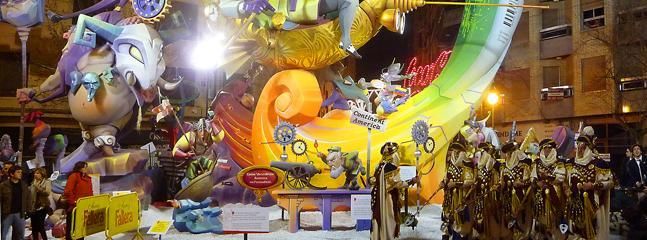 La fallas festival - One of many festivals in the Valencia region