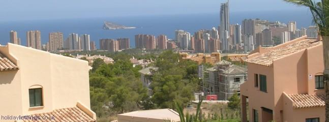View looking out to Benidorm and Cala Finestrat from the house