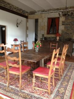Dining room opens out onto terrace. Provides a great dance area for parties