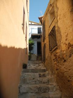 Narrow alley to get to the house