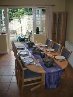 The Dining Area looking out