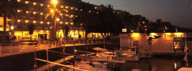 Cala Bona Harbour at night