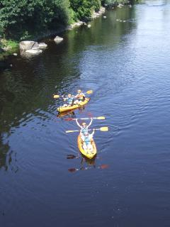 Kayaking down the river vienne