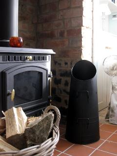 We provide logs for the log burner to make it even cosier in the winter months