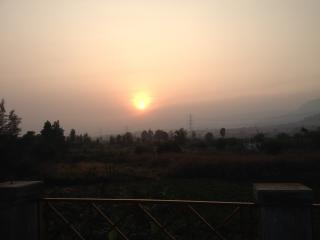 View of the sunset - Actual View