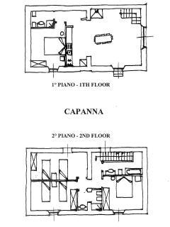Planimetria appartamento CAPANNA/ apartment planimetry CAPANNA