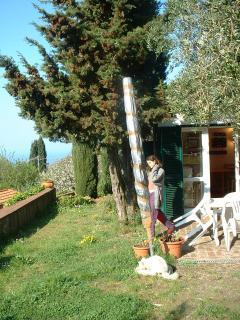 giardino e vista casa/ garden with house view