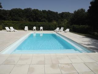 The Pool, secluded with a large sunning area and pool loungers