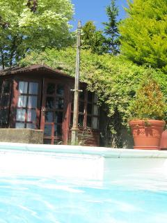 shared heated outdoor swimming pool