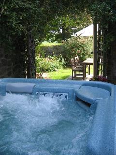 Enjoy a soak in the HOT TUB