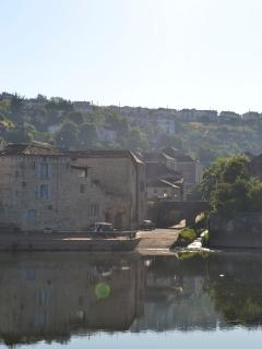 The house can be seen, third on left just past the stone bridge