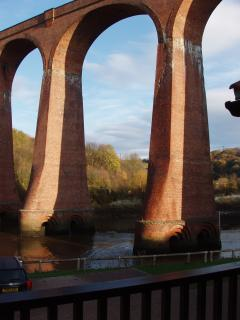 near the impressive Larpool Viaduct (view from balcony).