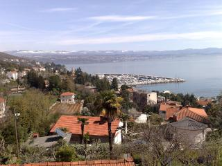 View of marina Icici and RIjeka from the villa