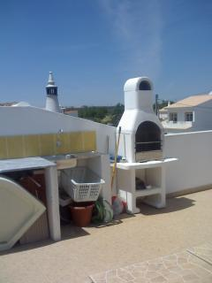 roof terrace with barbecue