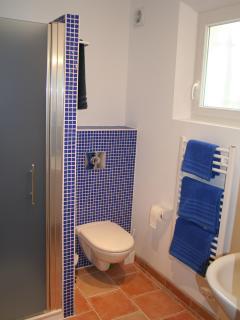 the ground floor shower room is adjacent to  bedroom two