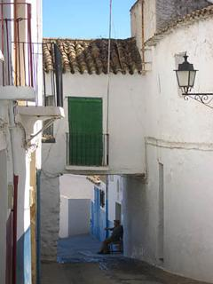 Relaxing on the lovely old streets of Alhama