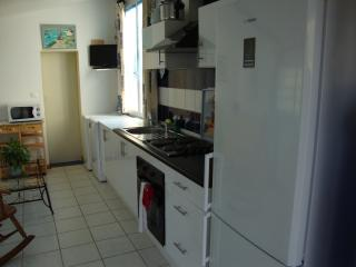 open kitchen with many new applicances