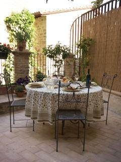 Meals can be served on the terrace off the kitchen