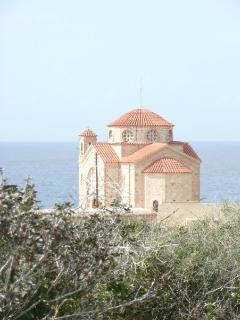 Agios Georgios church and harbour